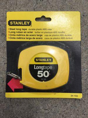 Stanley Steel Long Tape Measure - 50 feet for Sale in Waxhaw, NC