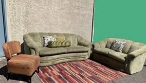Gorgeous Green Sofa Set, Delivery Available for Sale in Las Vegas, NV