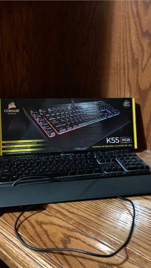 Corsair K55 RGB Gaming Keyboard for Sale in Utica, MI