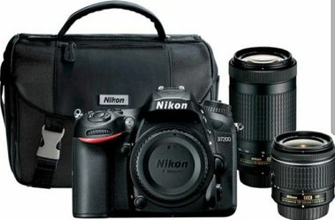 Nikon D7200 DSLR Camera with 18-55mm and 70-300mm Lenses for Sale in Tacoma,  WA
