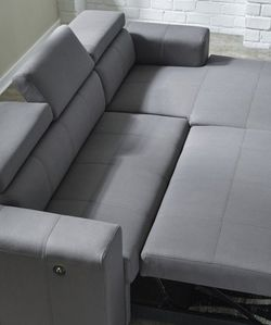 Salado Gray Sleeper Sectional with Storage by Ashley⚡New 🗨️🚚SAME DAY Delivery 💤 for Sale in Lanham,  MD