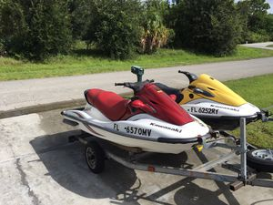 Kawasaki jet skis with trailer for Sale in Port St. Lucie, FL