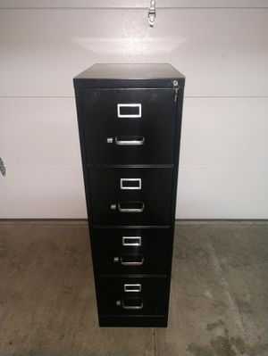 File Cabinet- Black 4 drawer for Sale in New Albany, OH