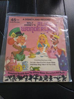 Vintage 1975 Walt Disney Alice in Wonderland Disneyland Record for Sale in Wilmington, CA