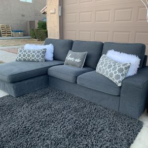 Dark Gray Ikea Kivik Two Piece Sectional for Sale in Phoenix, AZ
