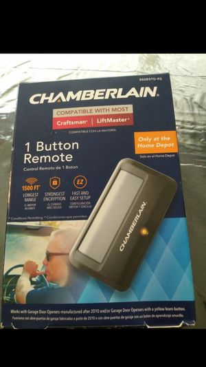 Chamberlain Remote Control Garage Door (1 Button Remote) for Sale in Las Vegas, NV