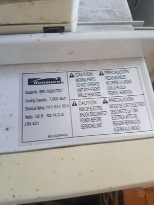 Kenmore Window AC 7800 btu for Sale in Glassboro, NJ