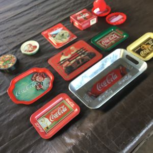 Lot Of Coca Cola Small Tins And Coasters for Sale in Lakewood, CA