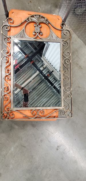 Mirror with antique metal frame for Sale in Grapevine, TX