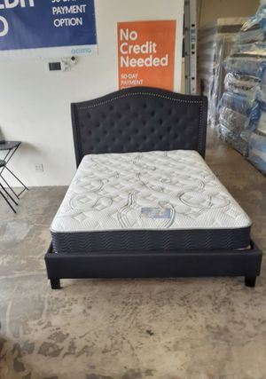 New Black Fabric Platform Bed Frame : Full / Queen / King / Cal King : Mattress Set Sold Separately : No Box Spring Required for Sale in Union City, CA