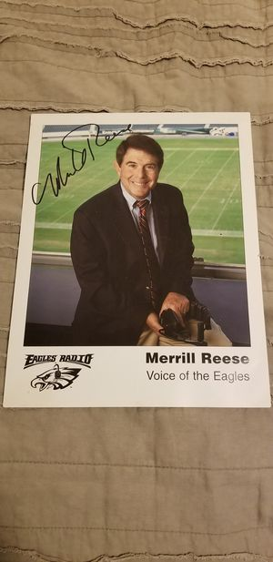 Signed Copy of photo of Merrill Reese for Sale in Los Angeles, CA