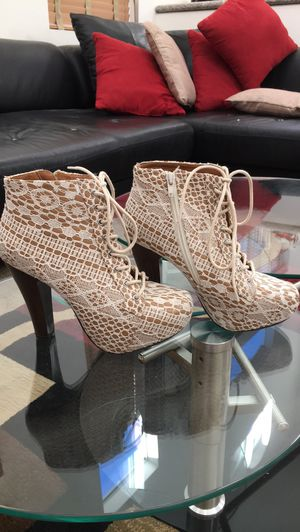 QUPID sexy lacy ankle boots! Worn once! for Sale in Las Vegas, NV