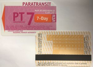 RTA BUS PASS 7 DAY PARATRANSIT PASS LOW PRICE for Sale in Cleveland, OH