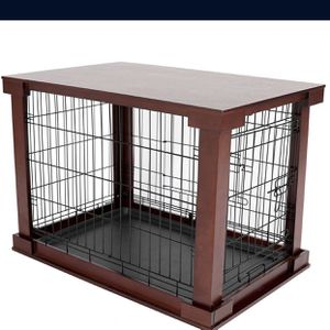 New In Box Dog Crate Home Kennel With Double Door With Metal And Wood Construction Base Size Small ( Medium Also Available ) for Sale in Downey, CA