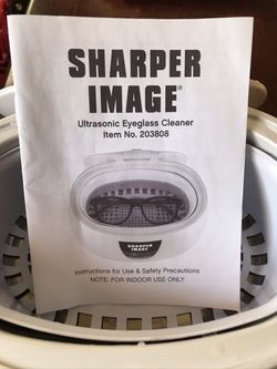 Sharper Image ultrasonic eyeglass cleaner for Sale in Pownal,  VT
