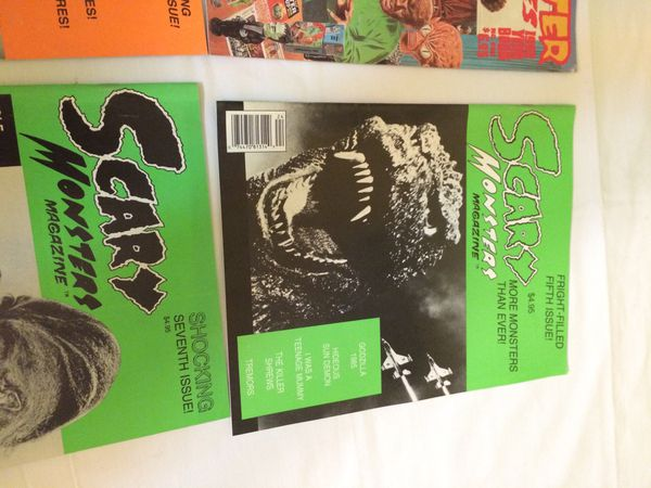 Scary Monsters magazine lot of 7