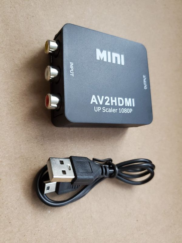 RCA to HDMI Adapter 1080P Mini RCA Composite Plug and Play CVBS AV to HDMI Video Audio Converter Adapter
