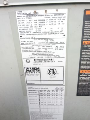 Trane ac package unit for Sale in La Vergne, TN