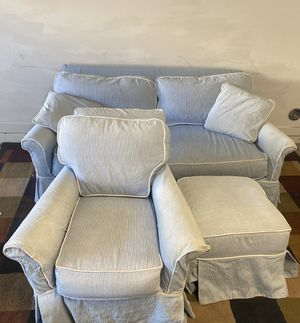 Nice Sofa, Chair , & Ottoman- CAN DELIVER for Sale in Phoenix, AZ