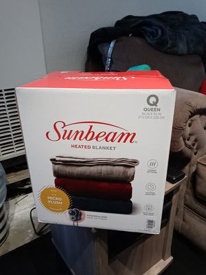 Brand new in Box Sunbeam Heated Blanket Q 84 IN X 90 IN for Sale in Huntington Beach, CA