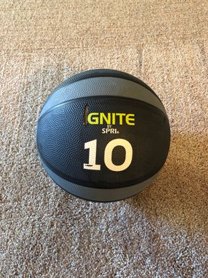 10 lbs weighted medicine ball for Sale in Palo Alto, CA