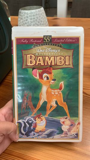 Bambi VHS masterpiece collection for Sale in Austin, TX
