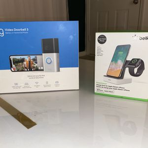 Ring Video Doorbell 3 & Belkin Charge Station for Sale in Columbia, SC