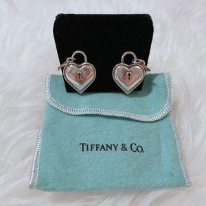 RARE Tiffany & Co 18k Heart Key Padlock Earrings for Sale in Gilbert, AZ