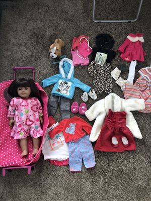 American Girl doll and 18in clothes for Sale in Oceanside, CA