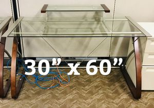 Glass desktop table for Sale in Anaheim, CA