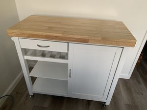 Like New Kitchen Island with Wheels for Sale in Santa Monica, CA