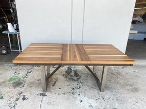 Dining Table With Extension Leaf Natural Walnut Finish for Sale in North Tustin, CA