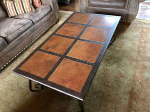 Hammered Bronze Coffee Table for Sale in Bend, OR