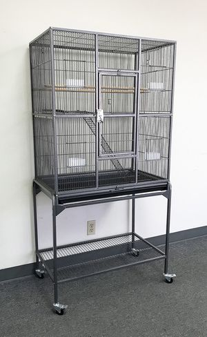 "(New in box) $90 Large Bird Cage Parrot Ferret Cockatiel House Gym Perch Stand w/ Wheels 32""x18""x63"" for Sale in Whittier, CA"