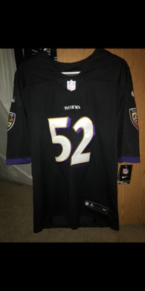 Brand new with tags Black Elite color Rush Ray Lewis jersey Nike authentic stitched on field for Sale in Nottingham, MD