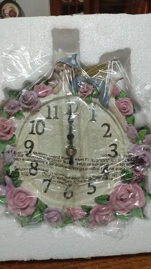 A pink fairy ceramic wall clock for Sale in Ward, AR