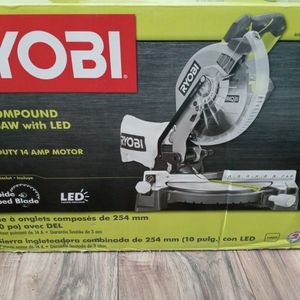 Ryobi Compound Miter Saw With Led for Sale in New Haven, CT