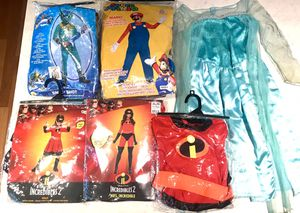 Halloween Costumes- Incredibles Mario Elsa Snapshot Skylanders for Sale in Melbourne, FL