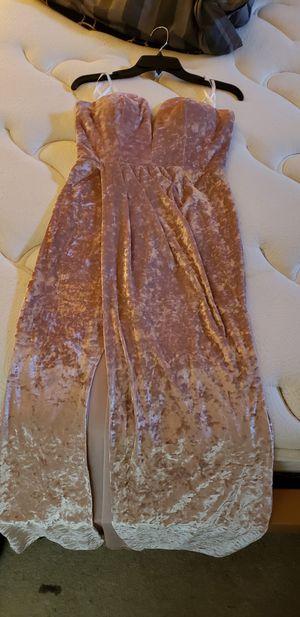Gorgeous velvet long dress w/ front slit for Sale in Manassas Park, VA