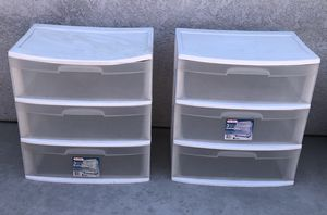 Sterilite Large 3 Drawer Containers (1 Available) for Sale in Santa Maria, CA