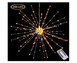 Hanging Decor Lights,200 Led Battery Powered Fairy Lights, Fireworks Light with Remote Control, Waterproof Starburst Lights for Sale in Rancho Cucamonga, CA