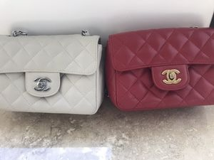 Set of 2 Crossbody Bags Chain Link Beautiful Leather LikeNew for Sale in Claremont, CA