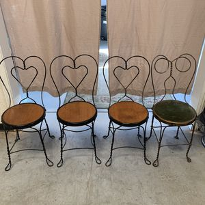 4 Vintage Ice Cream parlor chairs for Sale in Gonzales, CA