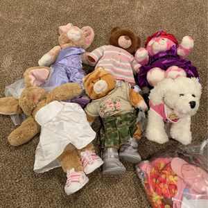 Build A Bear Lot 6 And Clothes for Sale in La Habra Heights, CA