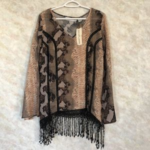 Rancho Estancia Women's Fringe Style Blouse with Cami Size Medium for Sale in Kansas City, MO
