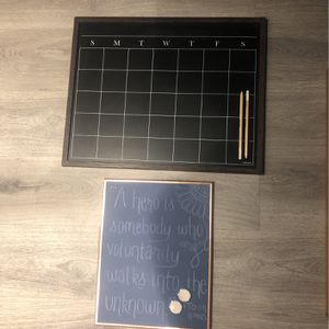 Chalkboard Calendar And Chalkboard for Sale in Alexandria, VA