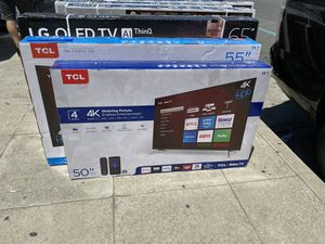50 INCH TCL ROKU SMART 4K BRAND NEW HUGE SALE TVS ! for Sale in Alhambra, CA