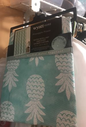 Turquoise Water Repellant Shower Curtain for Sale in Hialeah, FL
