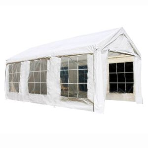 CPWT1020 Outdoor Event Gazebo Canopy Tent with Sidewalls and Windows 10 x 20 x 8 Feet White for Sale in Kent, WA