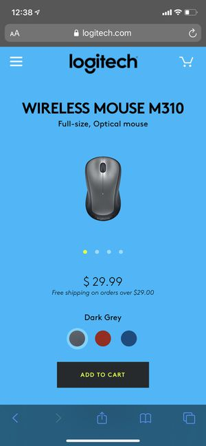 Logitech- M310 Wireless Optical Mouse for Sale in Los Angeles, CA
